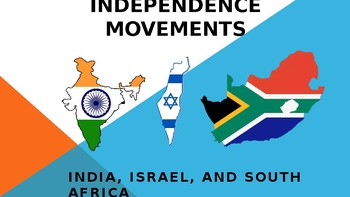 World History PPT Independence Movements India Israel S. Africa