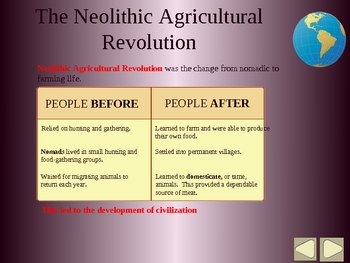 World History PPT - Intro to Paleolithic & Neolithic People