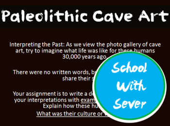 World History Paleolithic PowerPoint Cave Art History Lesson Cave Art PowerPoint