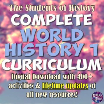 World History Part 1: Complete Curriculum Digital Download
