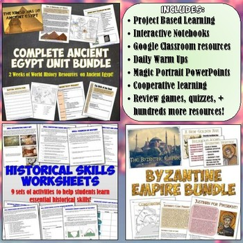 World History Part 1: Complete Curriculum Bundle