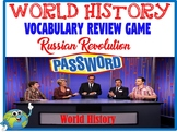 World History Password Review Game Russian Revolution
