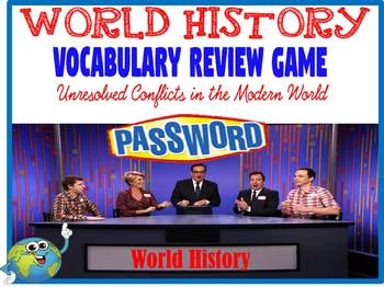 World History Password Review Game Unresolved Conflicts in the Modern World