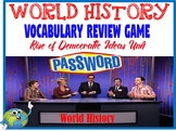 World History Password Vocabulary Review Game Democratic Ideas