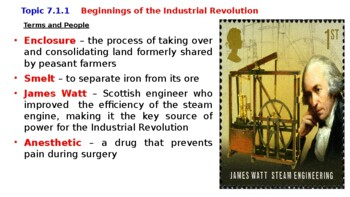 """World History Pearson 2018 Powerpoint Topic 7 """"The Industrial Revolution"""""""