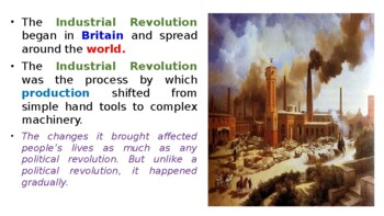 "World History Pearson 2018 Powerpoint Topic 7 ""The Industrial Revolution"""