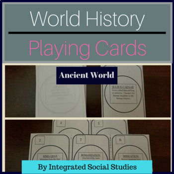 World History Playing Cards: Ancient World