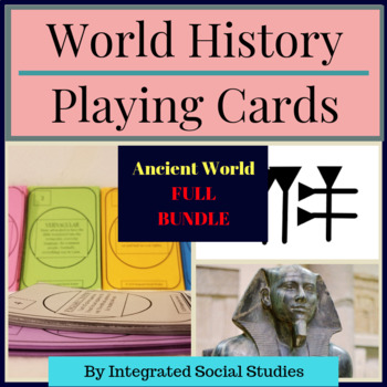 World History Playing Cards: Ancient World FULL BUNDLE