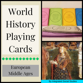World History Playing Cards: European Middle Ages