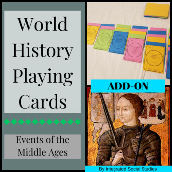 World History Playing Cards: Events of the Middle Ages ADD ON