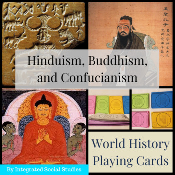 World History Playing Cards: Hinduism, Buddhism, and Confucianism Add-On