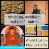 World History Playing Cards: Hinduism, Buddhism, and Confu