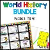 World History Poster and INB Set Bundle