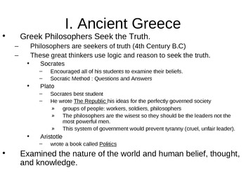 World History PowerPoint - Ancient Greece and Rome