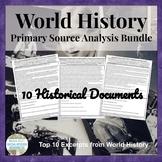 World History Primary Source Analysis BUNDLED SET! French