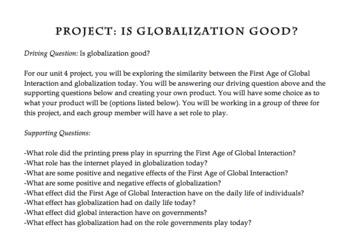 World History Project Bundle