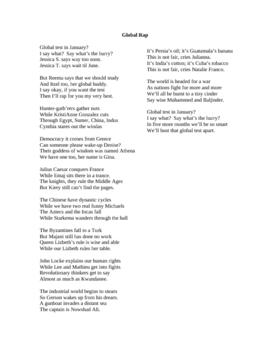 World History Rap Lyrics