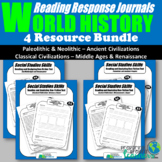 World History Reading Response Journal Bundle
