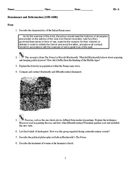 Cause And Effect Essay Thesis  English Example Essay also English As A Global Language Essay World History  Renaissance  Discussionessay Questions Essays Written By High School Students