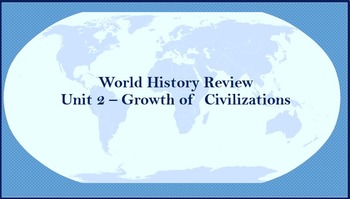 World History Review (Growth of Civilizations)