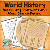 World History Review Crossword and Word Search Puzzles