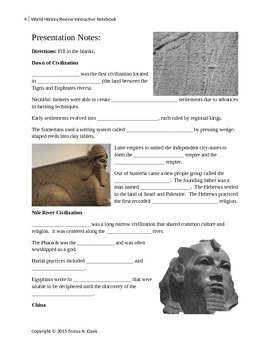World History Review Interactive Notebook