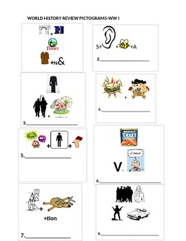 World History Review-Pictograms