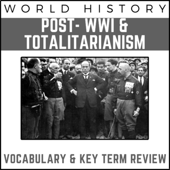 Post-WWI Totalitarianism: World History Review PowerPoint Presentation