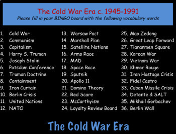 The Cold War Era: World History Review PowerPoint Presentation