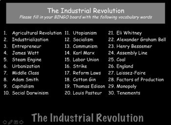 The Industrial Revolution: World History Review PowerPoint Presentation