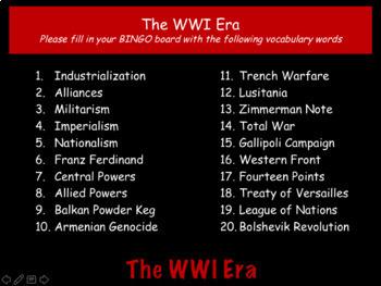 World War I: World History Review PowerPoint Presentation