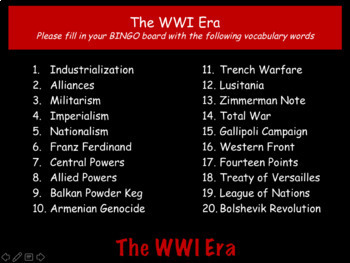 World War I (WWI): World History Review PowerPoint Presentation