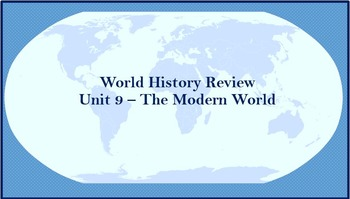 World History Review (World After World War II)