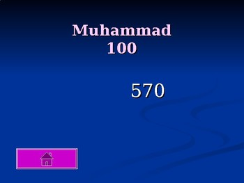 World History: Rise of Islam Jeopardy Review Game