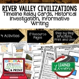 River Valley Civilizations Timeline & Writing Google Drive & Paper World History