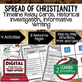 World History Roman Empire & Christianity Timeline & Writi