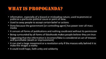 World History: Russian Propaganda- what is propaganda and how to analyze it