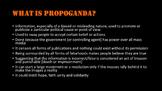 World History: Russian Propaganda- what is propaganda and how to analyze it