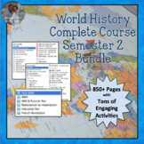 World History SEMESTER 2 COMPLETE UNITS Everything for World Civ Bundle