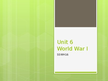 World History SSWH16 Notes