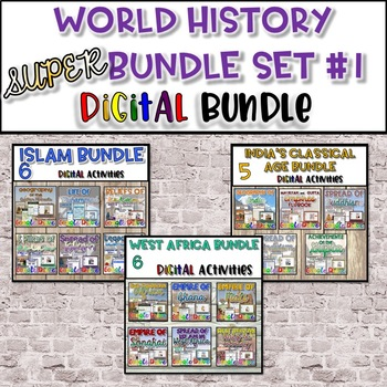 World History SUPER Bundle Set #1 {Digital}