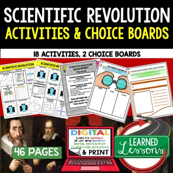 World History Scientific Revolution Choice Board Activities (Paper & Google)