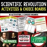 Scientific Revolution Activities Choice Board, Digital Dis