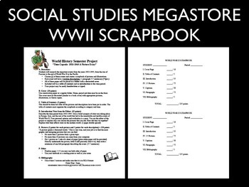 Scrapbook Project World War II