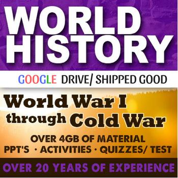 World History World War I to Cold War Second Semester Bundle