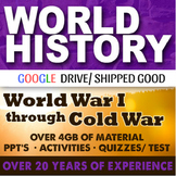 World History World War I to Cold War Second Semester Bundle