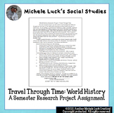 World History End of the Year or Semester Travel Research Project