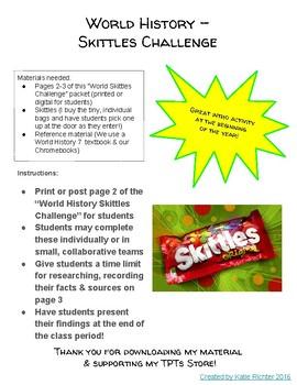 World History Skittles Challenge!