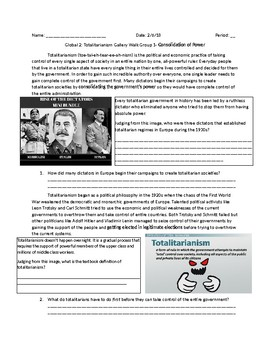 World History/Social Studies: Totalitarianism