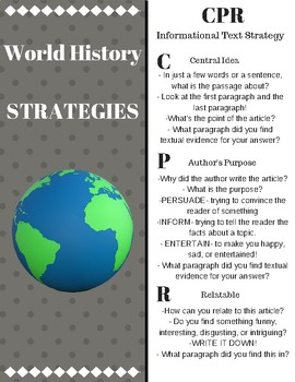 World History Strategy Notecards